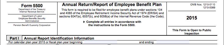 Health and Welfare Form 5500 Q&A - Wrangle 5500